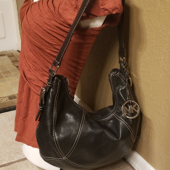 5dab3241f043 Michael Kors Bags | Authentic Black Leather Hobo Bag | Poshmark
